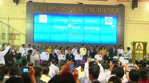 No trading as Myanmar's stock exchange opens