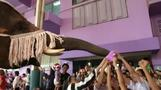 Thai elephants deliver gifts to children