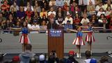 Cheerleading kids rally Trump supporters in Florida