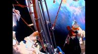Russian cosmonauts begin spacewalk