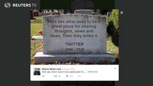 #RIPTwitter is No. 1 trending topic on Twitter