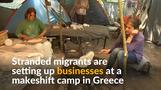 Tired of waiting, Greece's migrants turn to business to survive