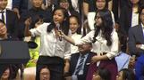Vietnamese rapper busts some rhymes to Obama