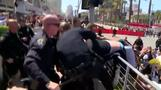 Tensions flare outside Trump rally in San Diego