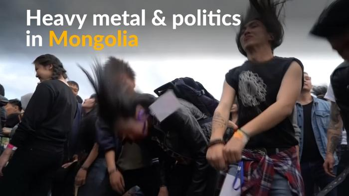 Mongolian youth mix heavy metal with politics