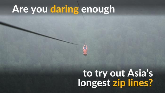 Kazakhstan zip lines a thrill-seeker's delight