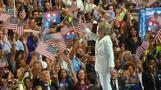 Democrats enthusiastic after Clinton accepts nominee