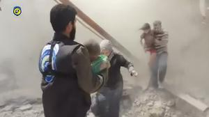 Residents flee Aleppo as air strikes pound Idlib and Rastan