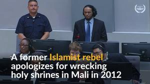 Islamist rebel apologizes for war crime
