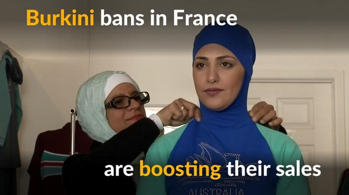 Boom for burkini business amid French ban