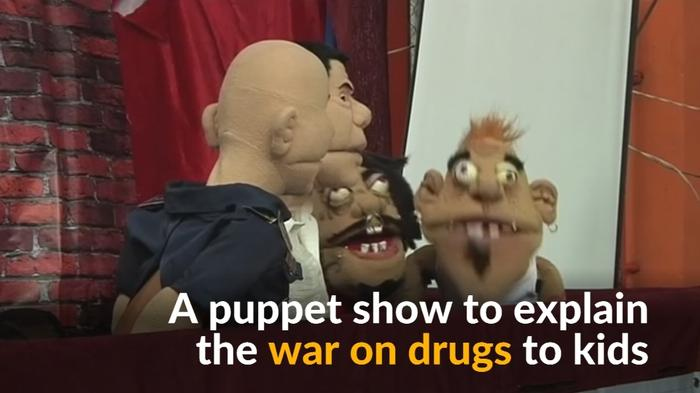Puppets portray the war on drugs in Manila schools