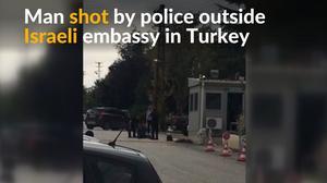 Man wielding knife shot outside Israeli embassy in Ankara