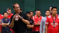 Peyton Manning promotes football in China