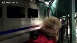 Witnesses describe devastation inside train station