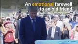 Bill Clinton pays respects at coffin of Israel's Peres