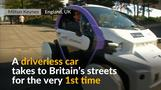 Driverless car tested on UK streets