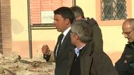Italy's PM visits quake site