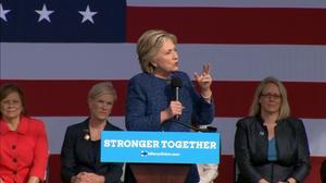 Clinton speaks on