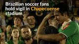 Brazilian fans grieve loss of Chapecoense team