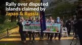 Japanese protesters demand return of disputed islands from Russia