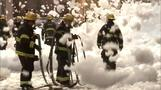 Foam blankets Philadelphia street after explosion