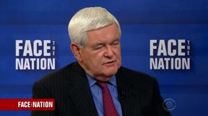 Gingrich: Trump realizing weight of presidency