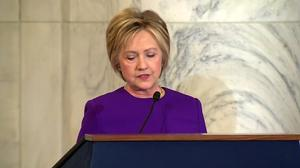 Clinton calls 'fake news' a threat to U.S. democracy