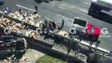 メキシコの高速道路で複数台が絡む事故、発生の様子を捉える(10日)