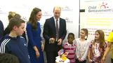 Duke and Duchess of Cambridge visit family charities in London