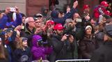 トランプ米新大統領がワシントン市内をパレード(21日)