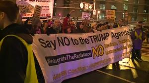 Hundreds of thousands expected to protest Donald Trump in Washington