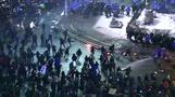 Clashes break out at massive Romanian protests