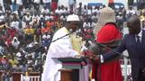 Gambia's President Adama Barrow sworn in on home soil