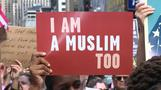 Hundreds rally in New York for 'I am a Muslim too' rally