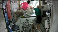 Astronauts go on spacewalk outside ISS
