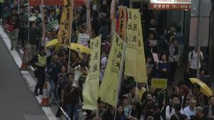 Hundreds protest ahead of Hong Kong election