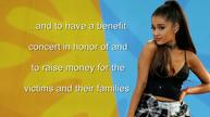 Ariana Grande says she will hold benefit concert in Manchester