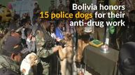 Bolivia's police dogs get honored for their anti-drug work