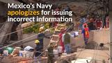 Mexico's Navy apologizes after misinformation about 'trapped schoolgirl'