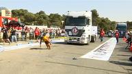 World's strongest men compete in truck pulling contest in Jordan