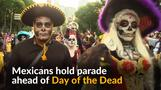Day of the Dead brings skeletons onto Mexico's streets