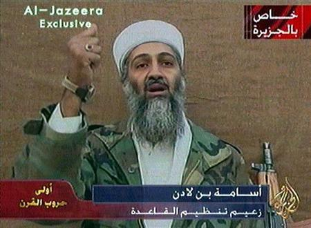 Osama Bin Laden is seen gesturing during a videotaped statement broadcast on November 3, 2001, in this still taken from the footage. A documentary says French special forces had bin Laden in their sights twice about three years ago but their U.S. superiors never ordered them to fire. REUTERS/al-Jazeera TV