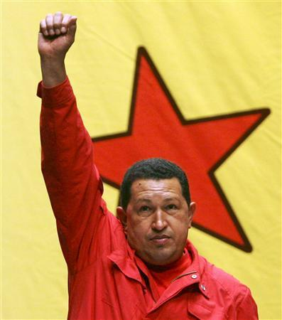 Venezuelan President Hugo Chavez attends an event with supporters to promote the new United Venezuelan Socialsit Party (PSUV) in Caracas in this March 24, 2007 file photo. Chavez spent more than a decade conspiring with other leftist officers before leading the putsch in 1992, during which time he helped draft a set of decrees for a revolutionary government. REUTERS/Miraflores Palace/Handout