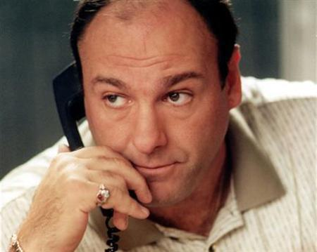 Actor James Gandolfini in a scene from ''The Sopranos'' in a photo courtesy of HBO. The first of the final nine episodes of the show aired on Sunday. REUTERS/Handout