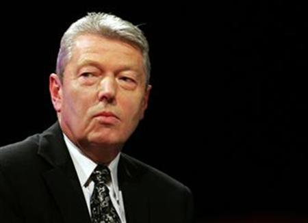 Education Secretary Alan Johnson attends a question and answer session on the fourth day of the annual Labour Party conference in Manchester, September 27, 2006. Video-sharing Web sites like YouTube have a ''moral obligation'' to tackle bullies who post clips showing abuse of teachers and pupils, the government will say on Tuesday. REUTERS/Luke MacGregor