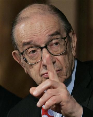 In this file phoyo former Chairman of the Federal Reserve Alan Greenspan speaks the Conference on U.S. Capital Market Competitiveness in Washington March 13, 2007. REUTERS/Jim Young