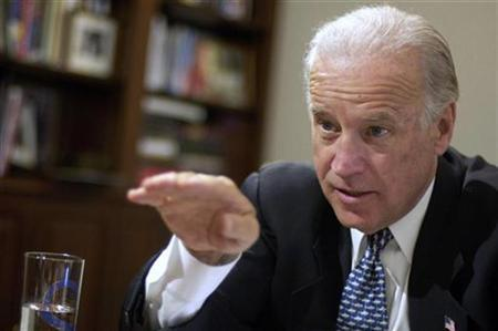 Senator Joseph Biden (D-DE) as he sits for an interview in his Capitol Hill office, May 1, 2007. Biden said that he would commit U.S. forces immediately to stop militia in Sudan's Darfur region as long as there were reports of genocide. REUTERS/Jonathan Ernst