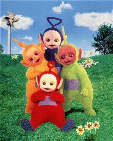 An undated publicity photo of the characters of the childeren's televison program ''Teletubbies.'' Poland's conservative government took its drive to curb what it sees as homosexual propaganda to the small screen on Monday, taking aim at Tinky Winky and the other Teletubbies. REUTERS/Handout