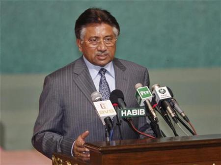Pakistan's President Pervez Musharraf speaks during an inaugural session of the 34th Islamic Conference of Foreign Ministers in Islamabad May 15, 2007. Musharraf has berated his ruling coalition for leaving him isolated in a growing crisis that threatens to destabilize a country on the front line of a global anti-terrorism campaign. REUTERS/Mian Khursheed