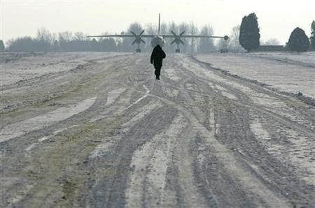 The tarmac of the Mihail Kogalniceanu Airbase, east of Bucharest, indicated by Human Rights Watch as a possible location for a covert prison allegedly used by the CIA, in a 2005 file photo. Six human rights groups urged the U.S. government on Thursday to name and explain the whereabouts of 39 people they said were believed to have been held in U.S. custody and ''disappeared.'' REUTERS/Bogdan Cristel